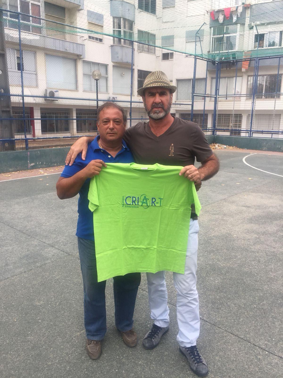 Fernando Marques com Eric Cantona